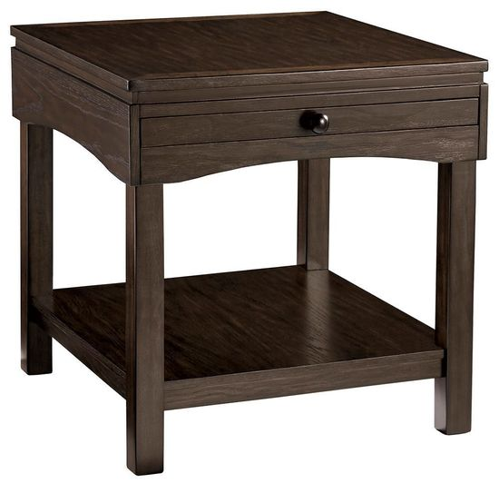 Picture of Haddigan Brown Rectangular End Table