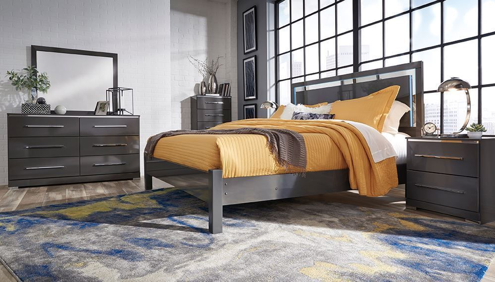 Picture of Steelson California King Panel Bed Set
