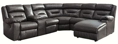 Coahoma Dark Gray Six Piece Reclining Sectional