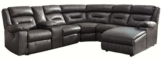 Picture of Coahoma Dark Gray Six Piece Reclining Sectional