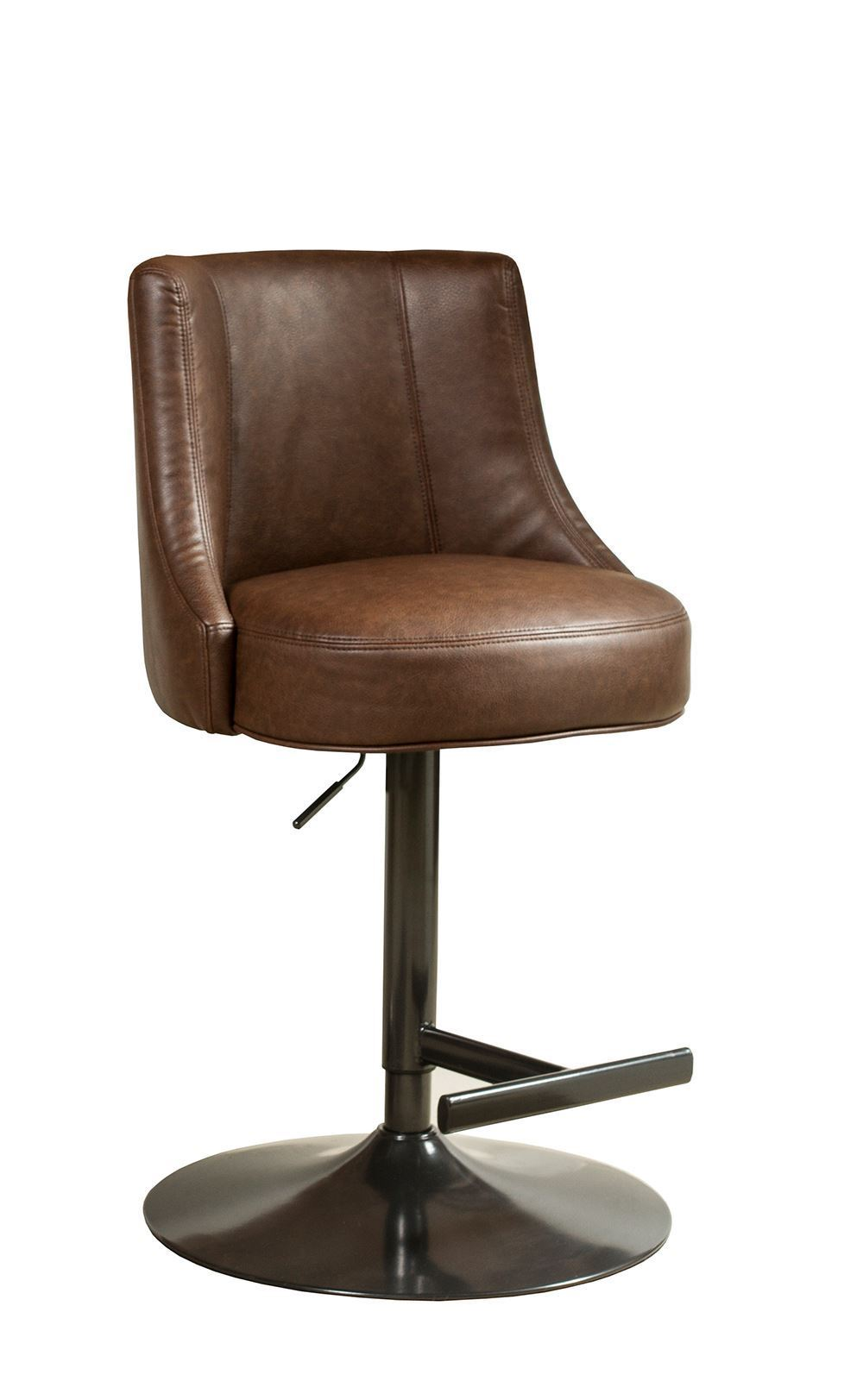 Picture of Biscayne Saddle and Bronze Swivel Stool