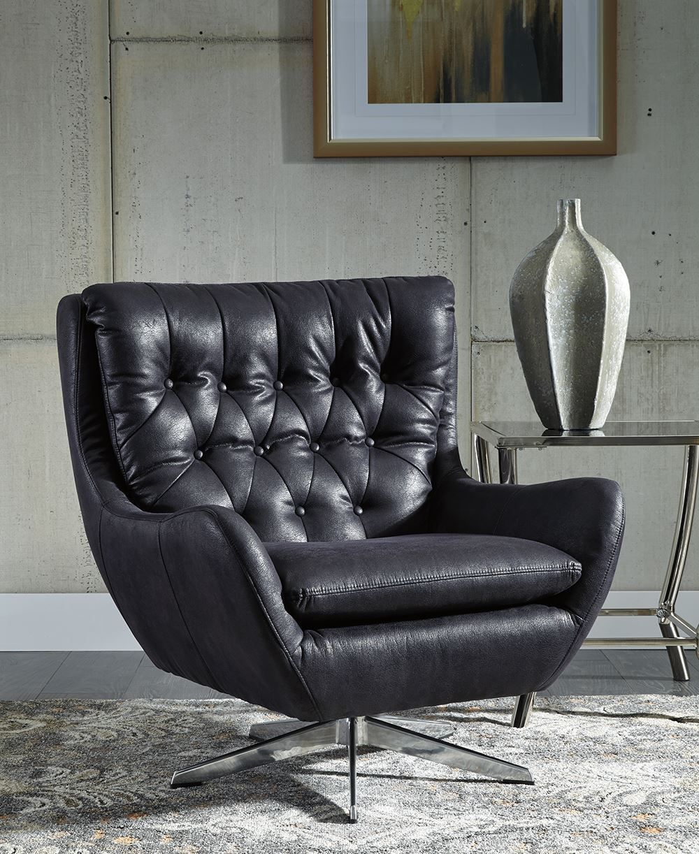 Picture of Velburg Black Accent Chair
