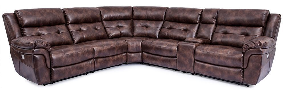 Picture of Jacob Tobacco Six Piece Power Reclining Sectional