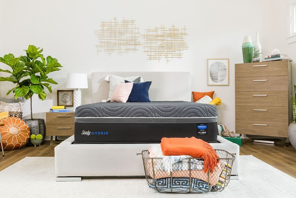 Picture of Sealy Gold Chill Plush Adjustable Head and Foot-California King Mattress Set