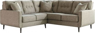 Dahra Jute Two Piece Sectional