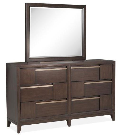 Picture of Modern Geometry Dresser and Mirror