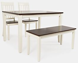 Decatur Table with Two Chairs and One Bench