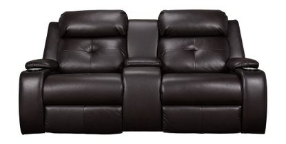 Diego Mocha Power Loveseat
