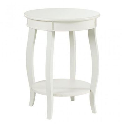 Rainbow White End Table