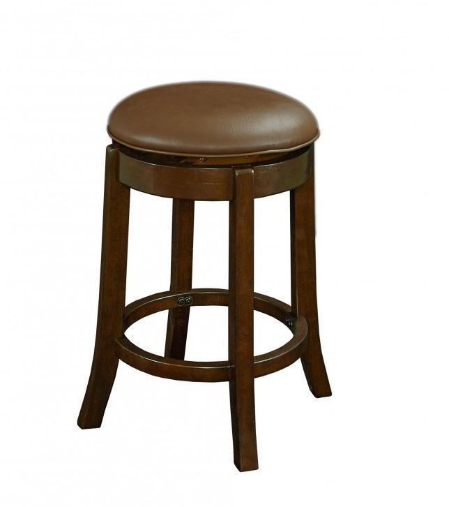 Picture of Oden 23 Inch Backless Brown Swivel Stool