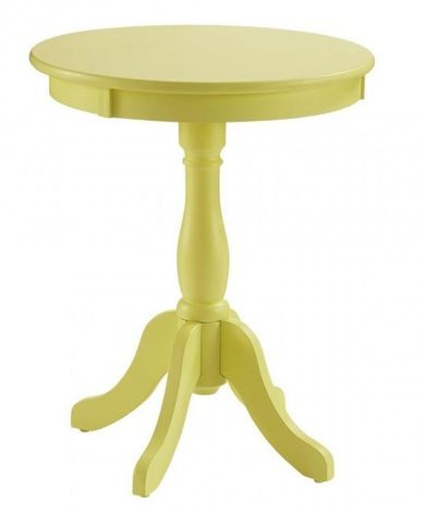 Palmetto Yellow Accent Table