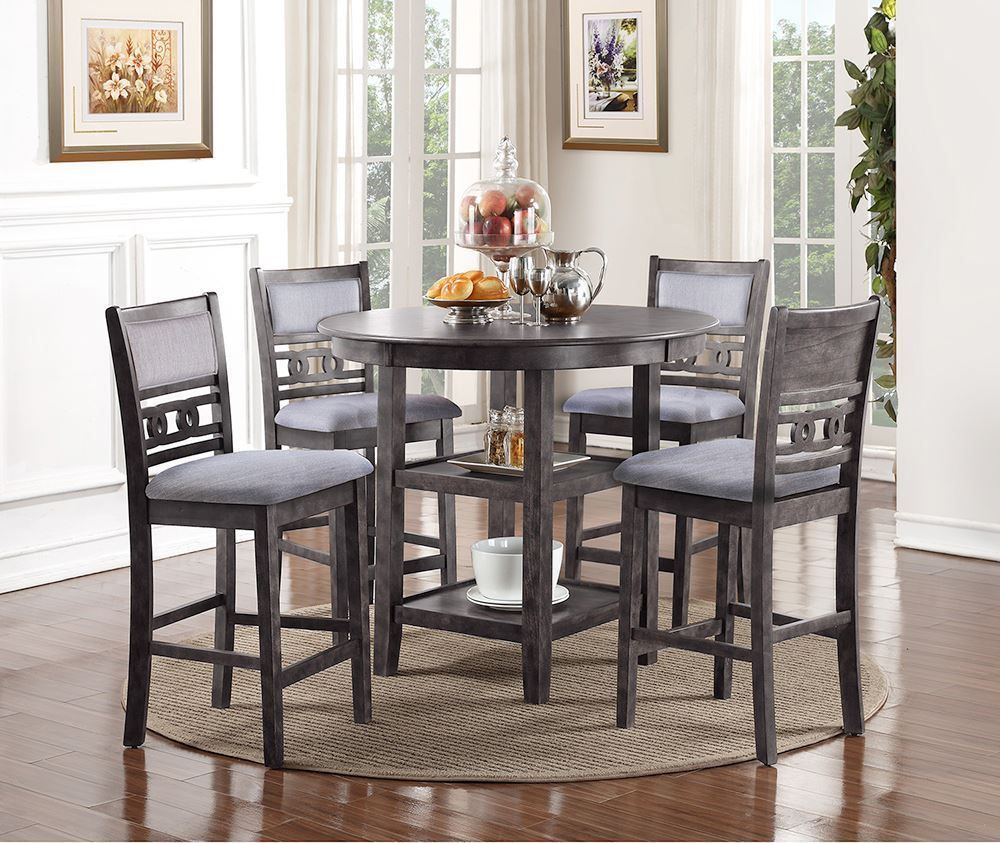 Picture of Gia Gray Counter Table with Four Stools