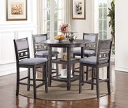 Gia Gray Counter Table with Four Stools