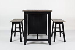 Madison Black Three Piece Counter Set