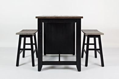 Madison Black Three Piece Counter Set