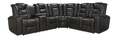 Durango Smoke Three Piece Power Reclining Sectional