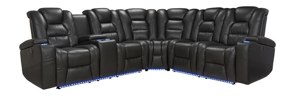 Picture of Durango Smoke Three Piece Power Reclining Sectional
