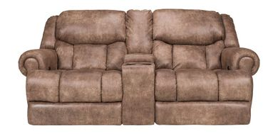 Arizona Beige Power Console Loveseat