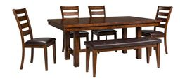 Kona 92 Inch Table with Four Chairs and Bench