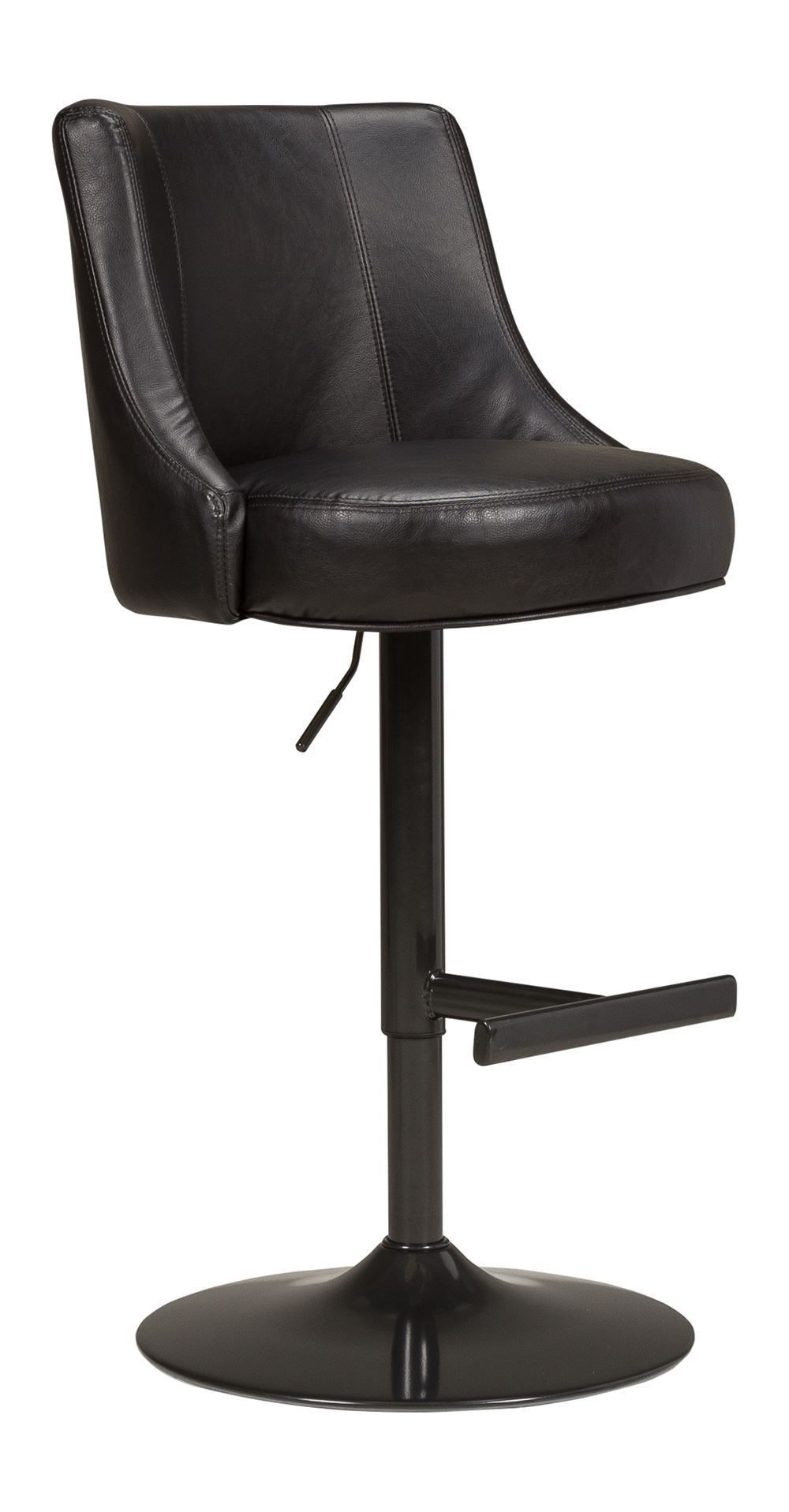 Picture of Biscayne Black and Bronze Swivel Stool
