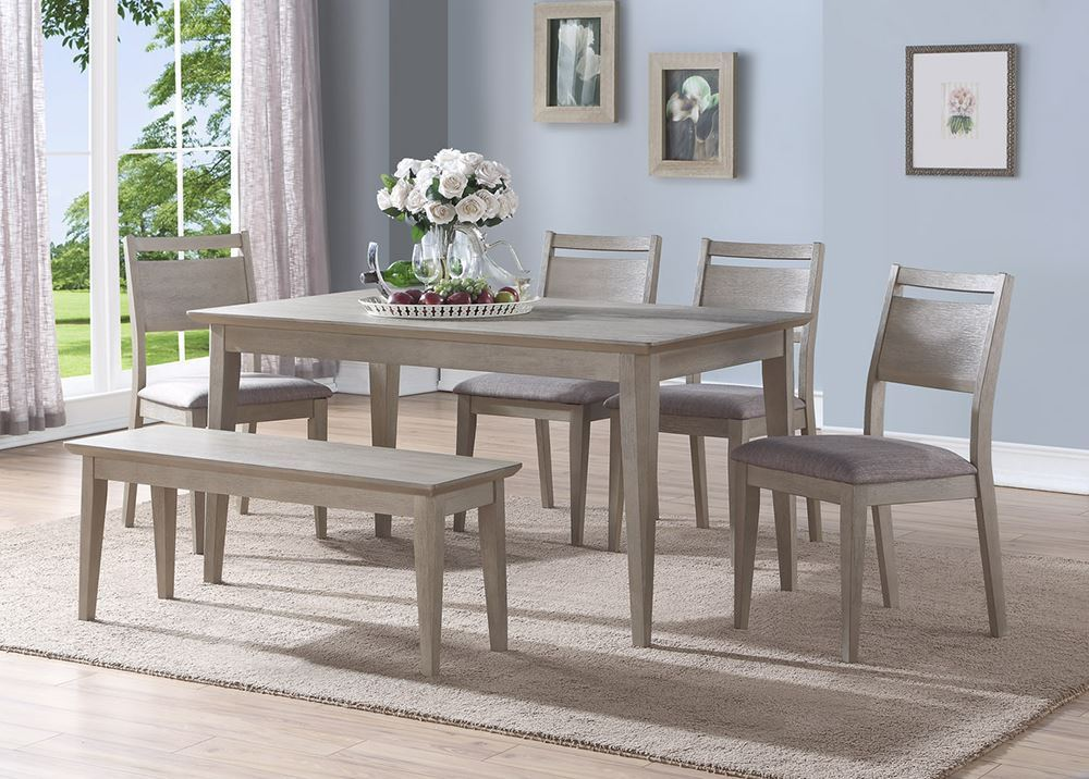 Picture of Ana Rectangular Table with Four Chairs and One Bench
