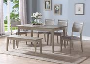 Ana Rectangular Table with Four Chairs and One Bench