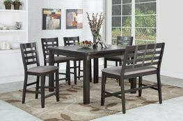 Astrid Counter Leaf Table with Four Stools