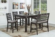 Astrid Counter Leaf Table with Six Stools