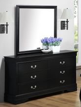 Louis Black Dresser and Mirror