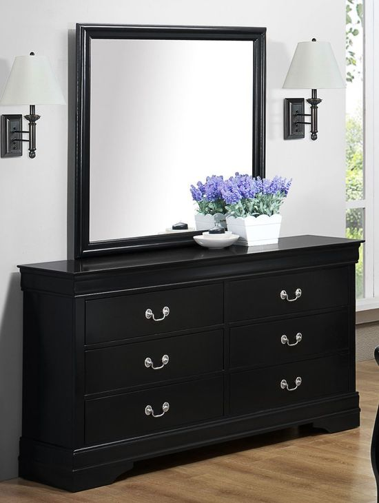 Picture of Louis Black Dresser and Mirror