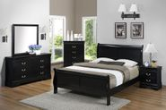 Louis Black King Bedroom Set
