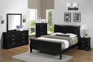 Louis Black Queen Bedroom Set