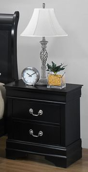 Louis Black Nightstand