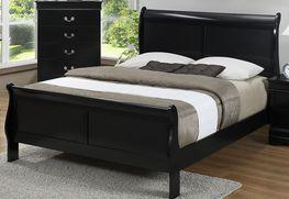 Louis Black Queen Bed Set