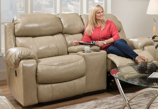 Picture of Hayden Sand Reclining Console Loveseat