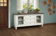 Stone Buffet with Two Glass Doors and Three Drawers