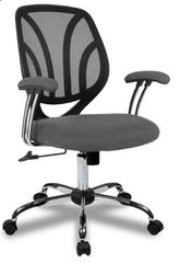 Screen Back Mesh Grey Chair