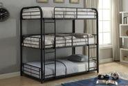 Cairo Full Black Triple Bunk Bed
