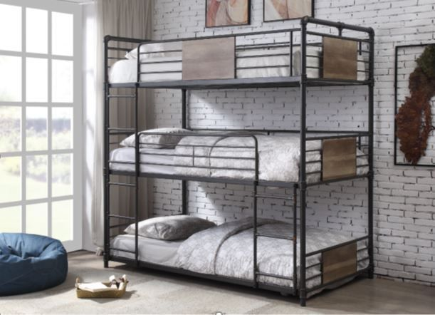 Picture of Brantley Black Twin Triple Bunk Bed
