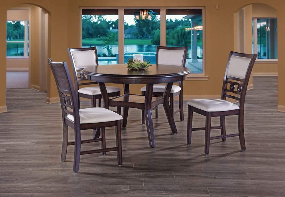 Picture of Gia Cherry Dining Table with Four Chairs