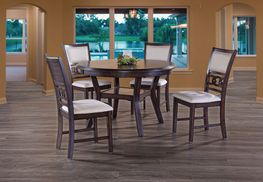 Gia Cherry Dining Table with Four Chairs