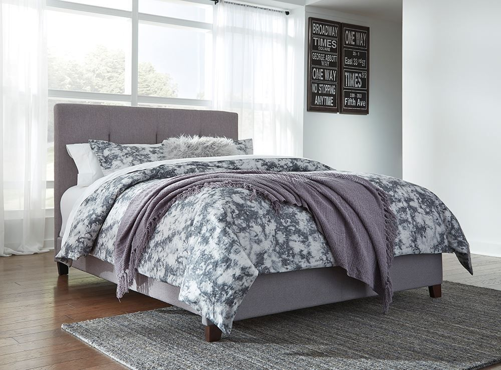 Picture of Dolante Gray Queen Upholstered Bed Set