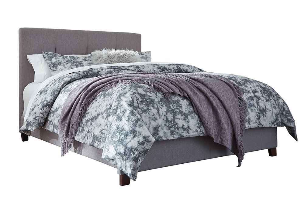 Picture of Dolante Gray King Upholstered Bed Set