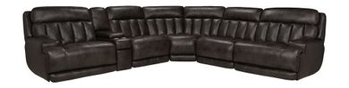 Luxe Coal Six Piece Reclining Sectional