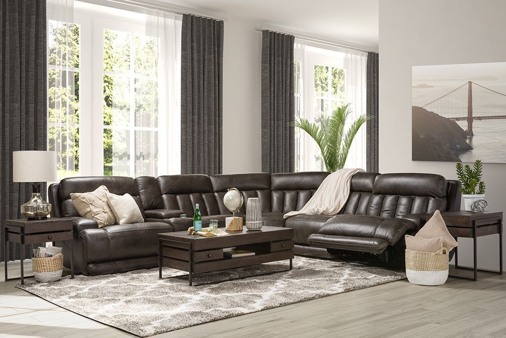 Picture of Luxe Coal Six Piece Reclining Sectional