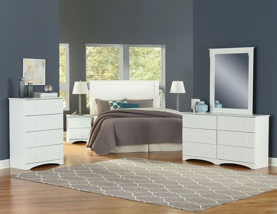 Picture of Essential White Dresser and Mirror