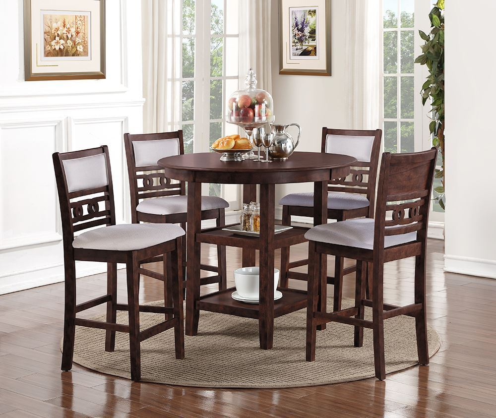 Picture of Gia Cherry Counter Table with Four Stools
