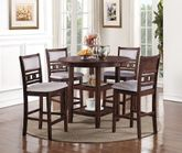 Gia Cherry Counter Table with Four Stools