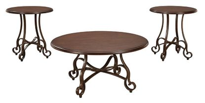 Carshaw Brown 3 Pack Tables