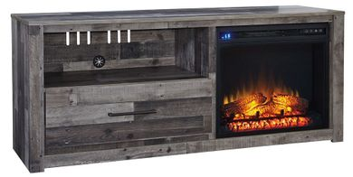 Derekson TV Stand with Fireplace Insert